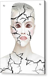 Crack Acrylic Print by Yosi Cupano