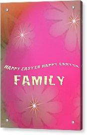 Cracked Happy Easter Acrylic Print by Debra     Vatalaro