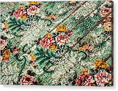 Cracked Linoleum Acrylic Print by Sue Smith