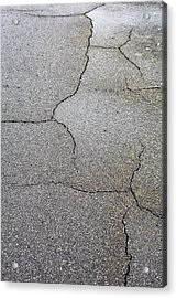 Cracked Tarmac Acrylic Print by Tom Gowanlock