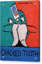 Cracked Tooth Acrylic Print by Anthony Falbo