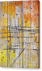 Cracked Wood Background Acrylic Print by Carlos Caetano