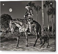 Cracker Cowboy And Full Moon Acrylic Print by Betty Eich