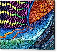 Crackle Sun Acrylic Print by Sam Bernal