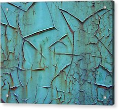 Acrylic Print featuring the photograph Crackled Rust by Ramona Johnston
