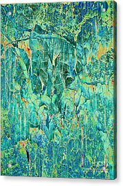 Cracks In Blue Acrylic Print