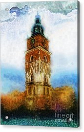 Cracov City Hall Acrylic Print by Mo T