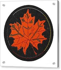 Cradleboard Beadwork Fall Maple Leaf Acrylic Print