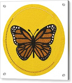 Cradleboard Beadwork Spring Butterfly Acrylic Print