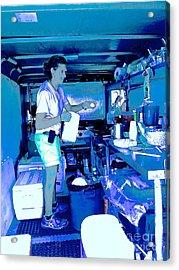 Craft Girl In Blue Acrylic Print