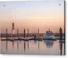 Craighill Channel Rear Lower Range Lighthouse Acrylic Print by JC Findley