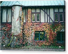 Cranbrook In The Fall Acrylic Print by Cynthia Hilliard