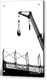 Crane And Construction Site Acrylic Print