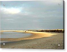 Acrylic Print featuring the photograph Crane Beach by AnnaJanessa PhotoArt