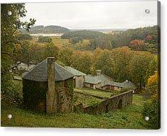 Crane Estate On A Misty Day Acrylic Print