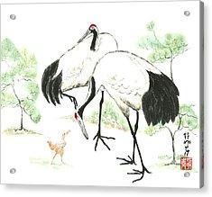 Crane Family Acrylic Print