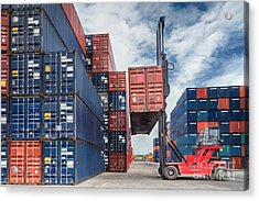 Crane Lifter Handling Container Box  Acrylic Print