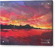 Cranes Beach Sunset Acrylic Print