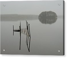 Crannog At Lake Knockalough Acrylic Print