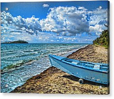 Crash Boat Acrylic Print by Daniel Sheldon