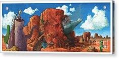 Crash Landing Acrylic Print by Richardson Comly