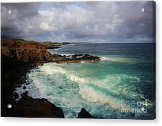 Crashes Acrylic Print by Deena Otterstetter