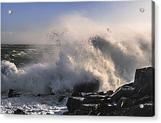 Crashing Surf Acrylic Print by Marty Saccone