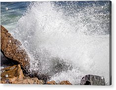 Crashing Wave Acadia  Acrylic Print
