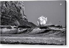 Crashing Waves At Cabrillo By Denise Dube Acrylic Print