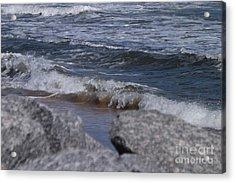 Crashing Waves Acrylic Print by Brigitte Emme