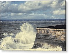 Crashing Waves Acrylic Print by Amanda Elwell