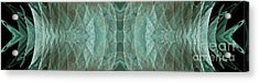 Crashing Waves Of Green 1 - Panorama - Abstract - Fractal Art Acrylic Print by Andee Design
