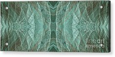 Crashing Waves Of Green 2 - Panorama - Abstract - Fractal Art Acrylic Print by Andee Design