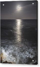 Crashing With The Moon Acrylic Print by Bryan Toro
