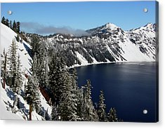 Crater Lake After Snow, Crater Lake Acrylic Print