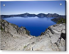 Crater Lake Acrylic Print by David Millenheft
