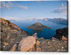 Crater Lake In The Evening Acrylic Print