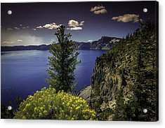 Crater Lake Acrylic Print by Jean-Jacques Thebault
