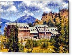 Crater Lake Lodge Acrylic Print by Kaylee Mason
