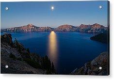 Crater Lake Moonrise Acrylic Print