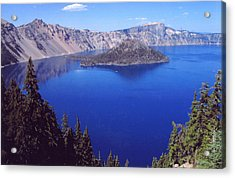 Acrylic Print featuring the photograph Crater Lake Oregon by Mary Bedy