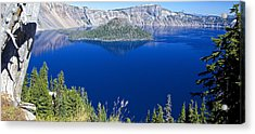 Acrylic Print featuring the photograph Crater Lake Panorama 090914b by Todd Kreuter