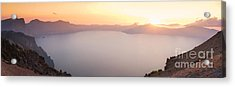 Crater Lake Panorama Acrylic Print