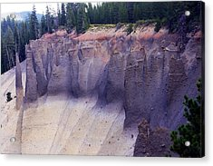 Crater Lake Pinnacles Acrylic Print by Michael Courtney