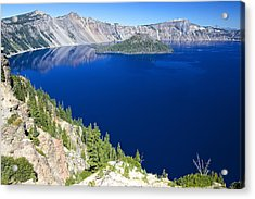 Acrylic Print featuring the photograph Crater Lake Wizard Island 090910a by Todd Kreuter