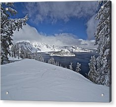 Acrylic Print featuring the photograph Crater Lake/ Wizard Island by Todd Kreuter
