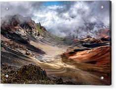 Craters Edge Acrylic Print