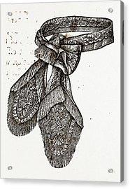 Cravat, Needlework Acrylic Print