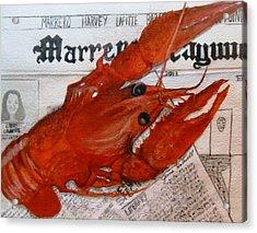 Crawdaddy Acrylic Print by June Holwell