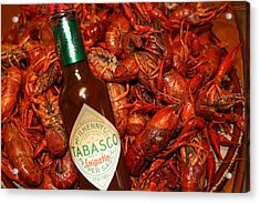 Crawfish And Tabasco Acrylic Print by Donna G Smith